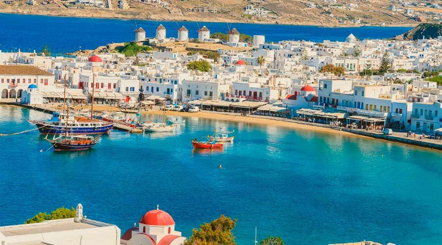 Mykonos en viaje a grecia